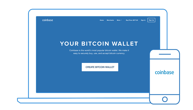 Signup at coinbase